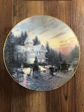 "Thomas Kinkade's Yuletide Memories Collector Plate ""The Magic Of Christmas�"