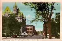OTTAWA, ONTARIO Canada  CHATEAU LAURIER East to RIDEAU STREET Scene  Postcard