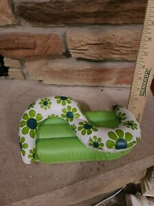 Vintage Barbie Blow Up Furniture Puff and Play Inflatable Sofa Couch