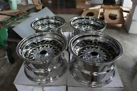 "For datsun ae86 miata mx5 S30 z31 dr30 JDM CHROME 15"" MESH RS Style wheels rim"