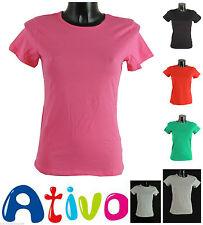Markenlose Damen-T-Shirts mit Rundhals aus Baumwolle