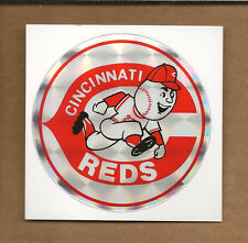 "(100)-Cincinnati Reds Stickers 3"" Prizm Effect Printed on Kodak 80's/90's"