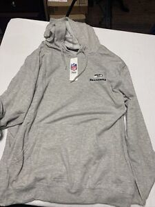 Seattle Seahawks NFL Mens Pullover Hoodie Size Large Gray Cotton Long Sleeve 2XL
