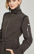 $238 BCBGMAXAZRIA NEW Women's Krystal Quilted Jacket Hover SZ M Olive