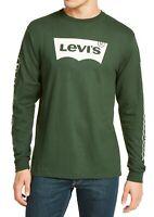 Levi's Mens T-Shirt Green Size Large L Tundra Logo Graphic Tee Crewneck $34 070