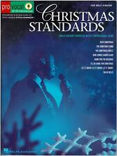 CHRISTMAS STANDARDS MUSIC BOOK SING-A-LONG for MALE VOICES - NEW CD, HAL LEONARD