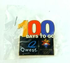 New listing 2002 Salt Lake Olympic Aminco 100 Days To Go Quest Lapel Pin Pinback New Limited