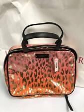 Victoria's Secret Coral Ombre Leopard Hanging Travel Bag Case