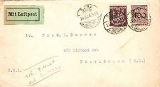 Briefmarken aus dem deutschen Reich (1924-1932) mit Luftfahrt-Motiv