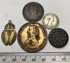 x5 Old Coins, Medals, Tokens & Weights - an interesting assortment (A747)