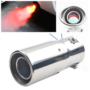 1Piece Universal LED Exhaust Pipe Spitfire Red Light Flaming Muffler Tip For Car