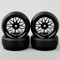 BBNK 4Pcs/Set 1/10 RC HPI Drift Car Speed 0 Degree Tires Tyre & Wheel 12mm Hex