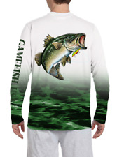 UPF 50 Microfiber Moisture Wicking Long Sleeve Performance Bass Fishing Shirts