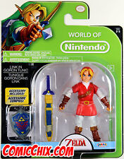 World of Nintendo ~ LINK in GORON TUNIC ACTION FIGURE ~ Ocarina of Time