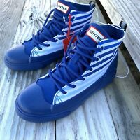 Hunter for Target Kids Unisex Dipped Canvas High Top Sneakers Blue Stripe Sz 3