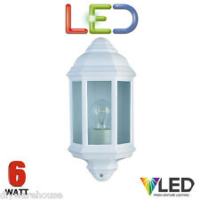 SEARCHLIGHT 280WH LED WALL LANTERN 6 WATT WHITE DIE CAST IP44 OUTSIDE QUALITY