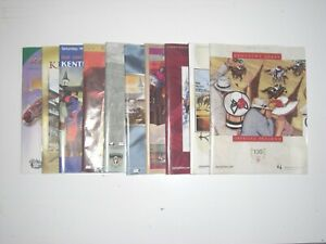 10 Kentucky Derby programs - 2000 thru 2009 - All in MINT Condition
