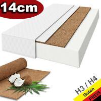 Matratze Kaltschaum Kokos H4 / H3 Premium 14cm Kaltschaummatratze 80-160cm
