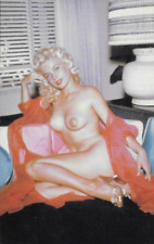 1950's or 60's Model Risque Postcard never used Measures 3.5 x 5 1/2 Repro