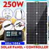 250W Solar Panel Kit Dual DC USB Charger Kit +100A Solar Controller Caravan Van