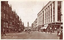 BELFAST IRELAND UK HIGH STREET~PHOTO BROWN POSTCARD 1940s