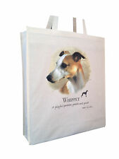 More details for whippet (c) cotton shopping bag tote with gusset for xtra space perfect gift