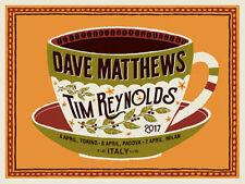 Dave Matthews Tim Reynolds Poster 2017 Torino Padova Milan Italy S/N