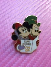 Disney Pin 7950 Mickey Minnie Christmas 1992 Happy Holidays Carolers