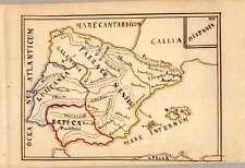 SPANIEN-HISPANIA-SPAIN-handgezeichnete Karte-Map von 1850