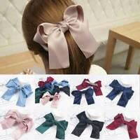 Big Bow Hair Clip Satin Hairpin Girl Hair Accessories for Women Bowknot Hairpins