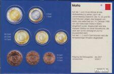 Malta M1- 3 fior di conio misti Annate ab 2008 Kursmünze 1, 2 e 5 Cent