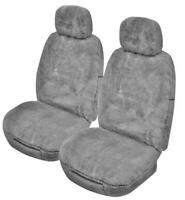 Universal Downunder 16mm Thick Pile Sheepskin Front Seat Covers Size 30 - Sil...