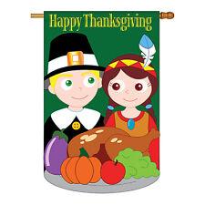 New listing Thanksgiving - Applique Decorative House Flag - H113033-P2