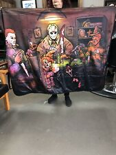 Big Chris Art - Slasher Fleece Throw Blanket Jason The Screen Mike Myers New