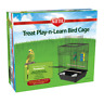 Kaytee Bird Parakeet Cage Treat Play N Learn & play top open/close (2 Free Toys