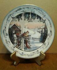Bradford Pinegrove'S Afternoon Winter Cardinals Collector Plate by Sam Timm