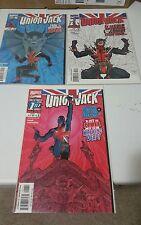 Union Jack #1 2 3 Marvel Mini Series Comic Book Set 1-3 Complete Cassaday