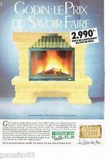 PUBLICITE ADVERTISING 116  1989  Les cheminées feu de bois Godin
