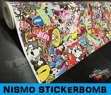 NISMO Sticker Bomb Car Wrapping Vinyl 1.52 x 5m - Bubble Free Wrap Film Foile