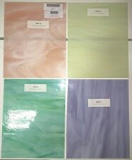 "Pastel Color Spectrum Stained Glass Pack (8""X10"") - Stained Glass Sheets"