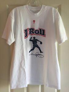 "Phillies Jimmy Rollins Men's T-shirt ""JRoll"" Size XL White IBEW Local Union 98"