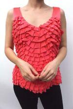 Maglie e camicie da donna rosa in seta con scollo a v