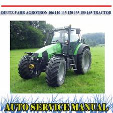 DEUTZ FAHR AGROTRON 106 110 115 120 135 150 165 WORKSHOP SERVICE MANUAL ~ DVD