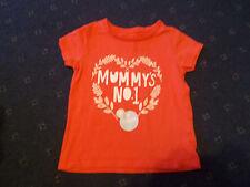 "Girls pink Nutmeg t-shirt 18-24 months with ""Mummy's No1 winner"""