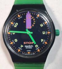 1992 Swatch Watch SSB100 Jess Rush Stop Good Cond