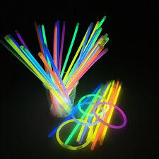 100lot Premium Glow Sticks Bracelets Neon Light Glowing Party Favors Rally Raves
