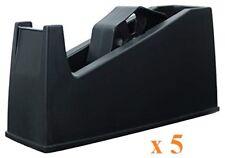 5 x Heavy Weight Tape Dispenser Desktop Tape Dispenser One Hand Usage 19mm x 33m