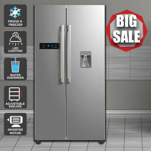 584L Side by Side Fridge with Water Dispenser - Silver