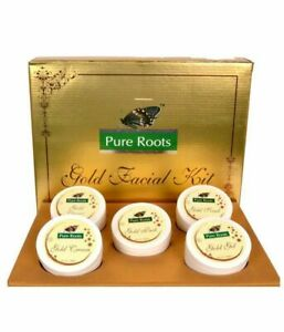 100 gm pack Pure Roots herbal Gold Facial kit Instant Glowing skin