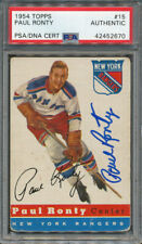 1954/55 Topps #15 Paul Ronty PSA/DNA Certified Authentic Signed *2670